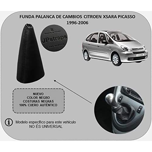 Funda Palanca de Cambios 100% Piel Color Negro Compatible CITROENXSARAPICASSO (1996-2006)