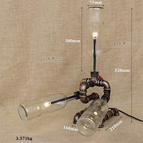 WLM Nordic Persönlichkeit Tischlampe, stilvolle Lampen minimalistischen Lampen antiken Tischlampe Schlafzimmer Nachttischlampe Studie Kunst Glasrohr Lampen, transparente Flaschen.