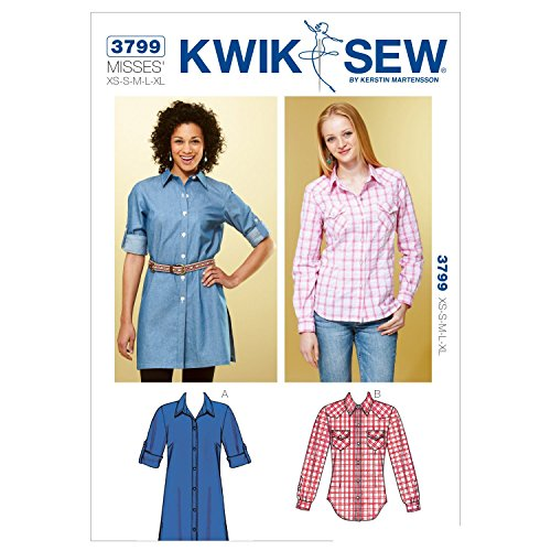 Kwik Sew K3799 Shirts Sewing Pattern, Size XS-S-M-L-XL