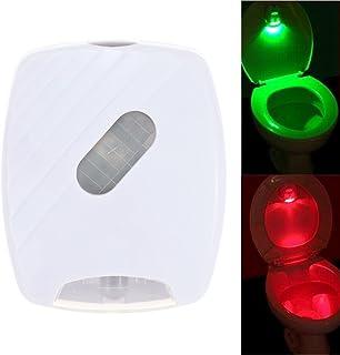 Smart Night Light Bowl Bathroom Toilet Seat Lighting Human Motion Activated PIR Light Sensor Toilet Lamp Battery Operated ...