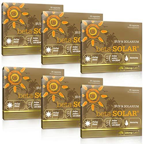 beta-Solar | Píldoras Aceleradoras del Bronceado | Betacaroteno | Max Strenght Deep Bronzed Tan | Bronceado seguro (180 Cápsulas)