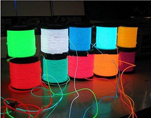 Gowe Flexible Neon Light EL Tube de câble métallique 100 m avec option de 8 couleurs Vert, 2,3 mm