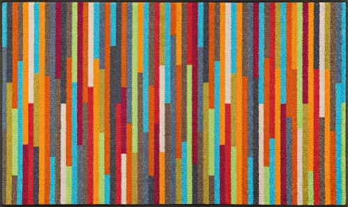 wash+dry Fußmatte, Mikado Stripes 75x120 cm, innen und außen, waschbar, Bunt
