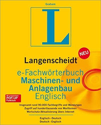 Langenscheidt e-Fachwörterbuch Maschinen-u.Anlagenbau Englisch