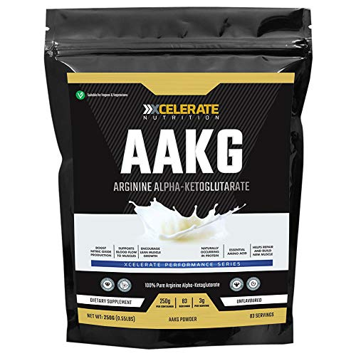 XCelerate Nutrition AAKG Arginine Alpha Ketoglutarate 250g Powder Pump Energy Nitric Oxide Cell Volumiser Powder