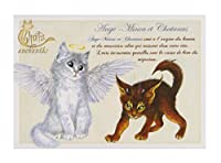フランス製 キャットポストカード (Ange-Minou et Chatanas) CPK031
