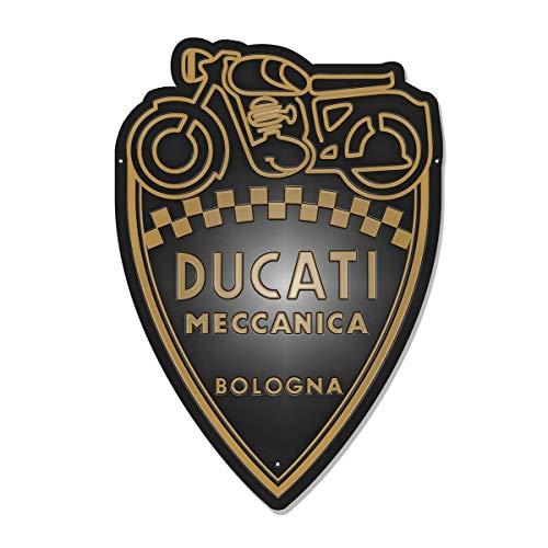 Ducati Shield Blechschild Retro Vintage schwarz