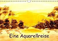 Eine Aquarellreise (Wandkalender 2022 DIN A4 quer): Impressionistische Landschaftsaquarelle (Monatskalender, 14 Seiten )