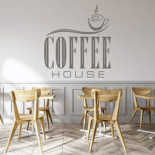Café etiqueta de la pared bebida arte texto Mural café cocina restaurante decoración interior vinilo ventana pegatina
