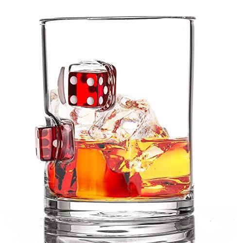 Stuck in Glass Devil's Bone 10 oz Whiskey Glass   Dice  ...