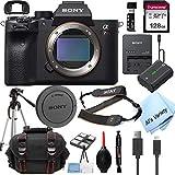 Sony Alpha a7R IV Mirrorless Digital Camera (Body Only)+ 128GB Memory + Case + Tripod (18pc Bundle)