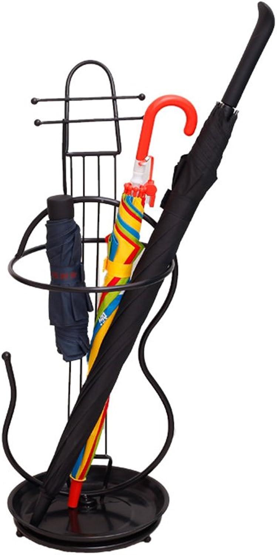 Lyqqqq Umbrella Wrought Iron Umbrella Stand Balcony Door Umbrella Tube Hotel Lobby Floor Storage Hanging Umbrella Bucket (26 X 72cm) Three colors Can Be (color   A)