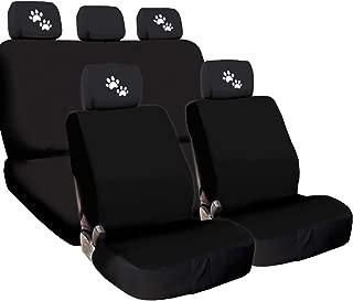Yupbizauto 4X Paws Logo Accessories Headrest w/Black Cloth Car Seat Covers