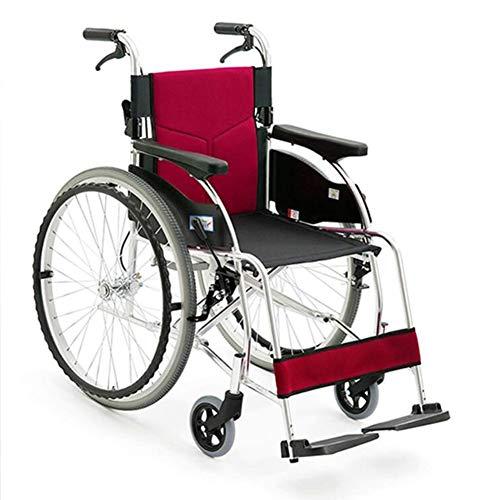 ZXMDP Autopropel rolstoel, licht en opvouwbaar frame, voor rolstoel, transit reizen, chairfor, geschikt voor mensen met een handicap