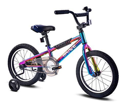 Brave 16' Freestyle BMX Galaxy Oil Slick Kids Bike for Boys...
