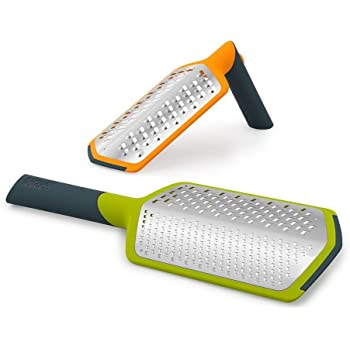 Joseph Joseph Twist Grater 2-in-1 Grater with Adjustable Handle, Extra Course and Fine