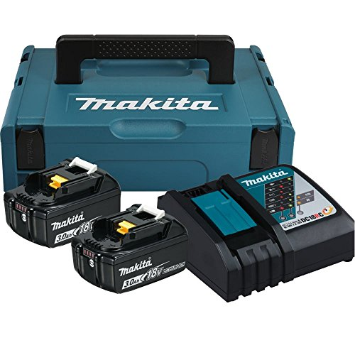 Makita 197952-5 Power Source Kit con 2 litium Litio Baterías, 18 V, 3,0 Ah y 197952 – 5, 0 W, 230 V, türkisschwarz