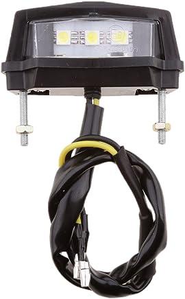 Sharplace Feu LED de Plaque d'Immatriculation de Moto Lumière Arrière avec 3 Ampoules Moto