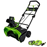 GreenWorks 26272 G-MAX 40V 20-Inch Cordless Snow Thrower, 4Ah Battery and Charger Included