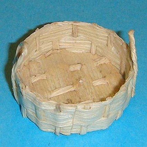 Miniatures World - Cesta de Mimbre para Decoraciones en Miniatura y Casas de muñecas en Escala 1:12