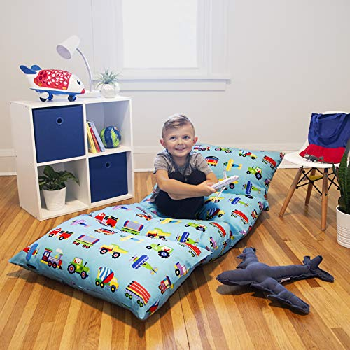 Wildkin Kids Pillow Lounger for Boys and Girls, Travel-Friendly and Perfect for Sleepovers, Requires 4 Standard Size Pillows (Not Included), Measures 69.5 x 27 Inches, BPA-Free (Mermaids)