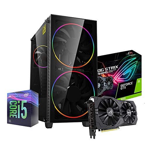 Pc desktop gaming completo Intel i5 9400F 4.10ghz in Turbo/Asus Rog Strix Gtx 1650 4gb Ddr5/ Ram Ddr4 16gb / Ssd M.2 512gb / Windows 10 / Computer da gaming assemblato/Pc gaming i5