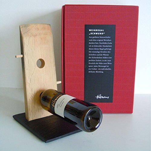 Botellero/de vino muscats para 1 FL., de bastón de roble hechos, madera - H 40 x B 16 x T 20 cm