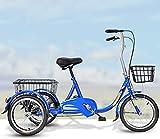 XHPC Bicicleta Vintage, Bicicleta Vieja, Triciclo Conveniente para Deportes al Aire Libre, Bicicleta para Ancianos, Bicicleta eléctrica para Adultos, Triciclo para Compras y Ocio