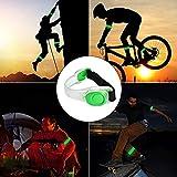 EasyULT 2 Pieza Banda Reflectante, Luz Running Silicona Brazalete Banda Reflectante, Pulsera LED Brilla en la Oscuridad Ajustable Brazalete, Luz LED Intermitente para Correr Ciclismo-Verde