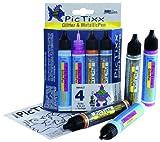 Hobby Line 49891 - PicTixx, Set di pennarelli, incl. 2 pz. con Brillantini e 2 pz. con Colori Metallici