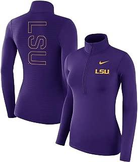 Nike Women's LSU Tigers Backprint Half-Zip Pullover Performance Jacket Top Size Small