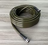 """Water Right 500 Series (1/2"""") Garden Hose, Drinking Water Safe, 100-Foot, Lead-Free Brass Fittings, Olive Green"""