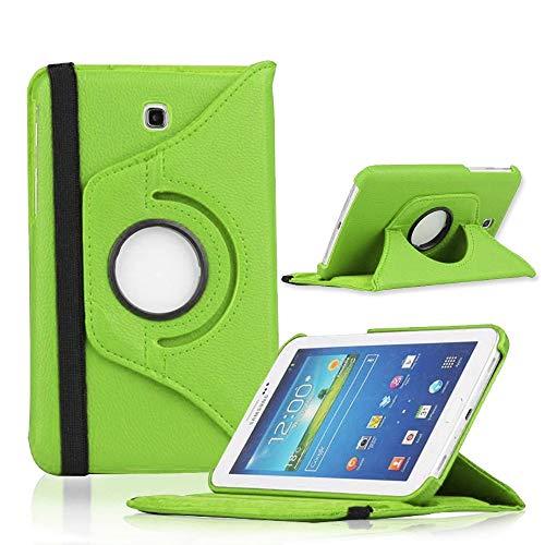COOVY® Cover für Samsung Galaxy TAB 3 7.0 GT-P3200 GT-P3210 SM-T210 SM-T211 Rotation 360° Smart Hülle Tasche Etui Case Schutz Ständer | grün