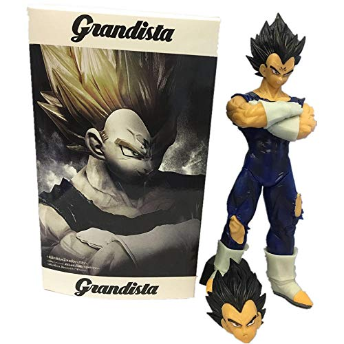 xstorex Dragon Ball Z Vegeta Grandista PVC Figuras de acción Modelo de colección Toy Dragon Ball Super Anime Evil Vegeta Figurine 280mm-con Caja al por Menor
