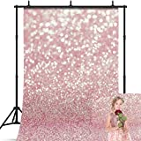 7x5ft Photography Backdrop - Rose Gold Glitter Photo Backdrop - Photo Studio & Party Backdrop Photography Background - Picture Backdrop Photo Background for Photography & Party Decoration