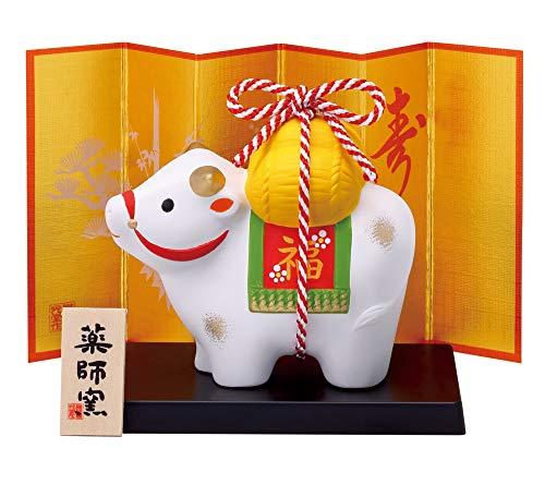 薬師窯 2021年 干支 日本製 錦彩 招福 丑(福結び) 25
