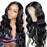 Echthaar perücke Human Hair middle lace front wig wavy natural hair Echthaarperücken für schwarze...