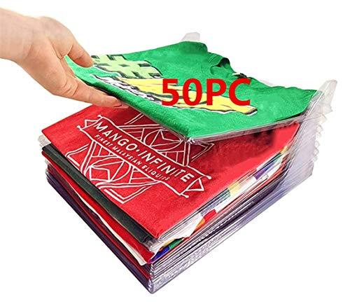 Nifogo Organizer per Armadio, Organizer Salvaspazio per T-Shirt Closet Organizer Camicia Cartella   Dimensioni Regolari
