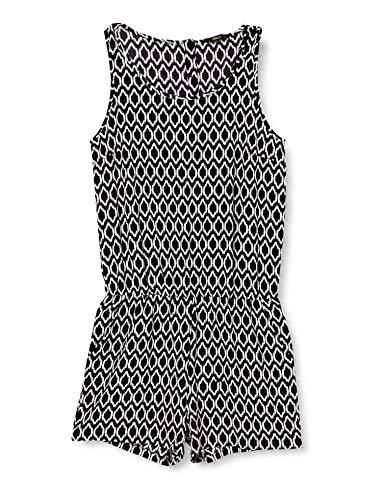 ONLY Damen Onlnova Lux S/l Playsuit AOP WVN 9 Jumpsuit, Black - Graphic Contrast, 34