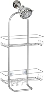 InterDesign Classico Extra Large Shower Caddy - Bathroom Storage Shelves for Shampoo, Conditioner and Soap, Silver
