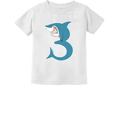 3rd Birthday Shark Party Gift for 3 Year Old Toddler Kids T-Shirt Shark Loving