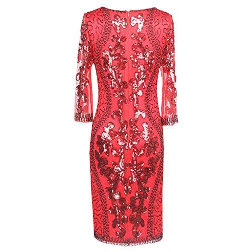 Janly - Vestido de novia para mujer de los años 20, estilo Art Deco, con lentejuelas, estilo Art Deco, con flapper y sin mangas, para el día de San Valentín