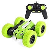 FLYZOE RC Car 2.4Ghz 1/24 Stunt Car Twist Arm Durable Racing Car Off-Road Car 360° Rolling High Speed Remote Control Cars, Green
