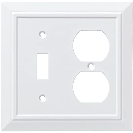 Franklin Brass W35244 Pw C Classic Architecture Double Switch Wall Plate Switch Plate Cover White