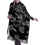 Zelda Artículos Bufandas largas de invierno de cachemira para hombres y mujeres Chal salvaje Lana suave de ancho completo