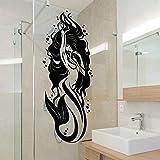 Bagno Vasca da Bagno in Vinile Adesivo Mermaid Girl Bagno Decorazione della Parete Impermeabile Pasta Vetro Decorazione della Parete 57cmx22cm