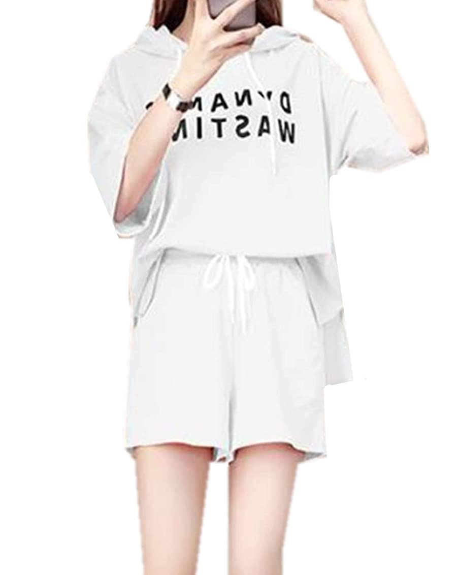 時々経験的慢上下セットレディース ジャージ 上下 2点セット 部屋着 短袖 ショートパンツ パジャマ 綿 上下セット かわいい 夏 女性 ルームウェア ゆったり スポーツ カジュアル ファション 快適 通気性