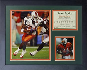 Legends Never Die  Sean Taylor Miami Hurricanes Framed Photo Collage 11 x 14-Inch