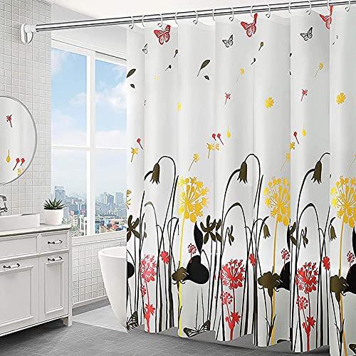 Duschvorhang,150x200cm Duschvorhang Anti-Schimmel,Anti-Bakteriell Badewanne Vorhang,Shower Curtains Halbtransparent,Wasserdichter Badezimmervorhang,mit 10 Duschvorhängeringen