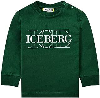 Dettagli su Iceberg Felpa con zip e cappuccio Bambini MFICE9306J 700 Verde